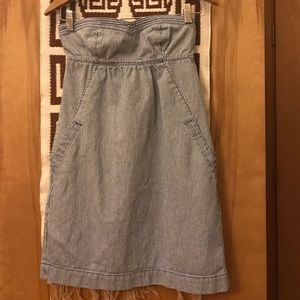 American Eagle Strapless Train Conductor Dress